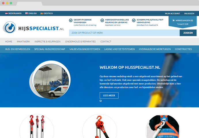 Hijsspecialist screenshot